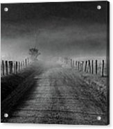 Sparks Lane In Black And White Acrylic Print