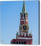 Spasskaya Tower Of Moscow Kremlin - Featured 3 Acrylic Print