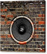 Speaker On A Cracked Brick Wall Acrylic Print