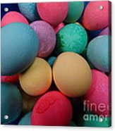 Speckled Easter Eggs Acrylic Print