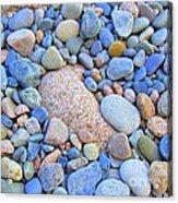Speckled Stones Acrylic Print