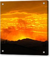 Spectacular Nevada Sunset  Acrylic Print