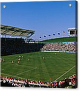 Spectators Watching A Soccer Match, Usa Acrylic Print