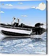 Speed Boating Acrylic Print