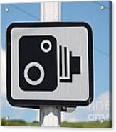 Speed Camera Sign Folkestone Acrylic Print