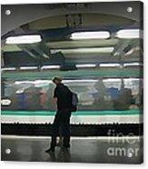Speeding Subway Train Acrylic Print