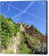 Sperone Fortress In Genova Acrylic Print
