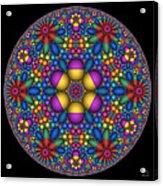 Sphere Packed Hyperbolic Disk Acrylic Print