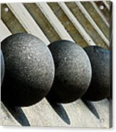 Spheres And Steps Acrylic Print by Christi Kraft