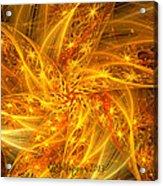Spherical Golden Stars Acrylic Print