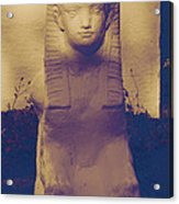 Sphinx Statue Blue Yellow And Lavender Usa Acrylic Print