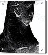 Sphinx Statue Torso Black And White Usa Acrylic Print