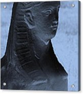 Sphinx Statue Torso Blue And Gray Usa Acrylic Print
