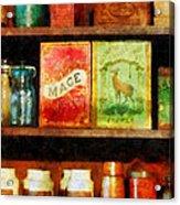 Spices On Shelf Acrylic Print by Susan Savad