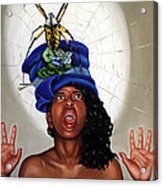 Spider Hat Acrylic Print by Shelley Laffal