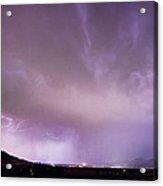 Spider Lightning Above Haystack Boulder Colorado Acrylic Print by James BO  Insogna
