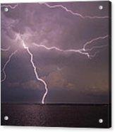 Spider Lightning Over Charleston Harbor Acrylic Print