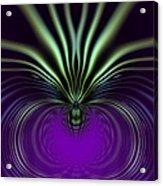 Spider Orchid Mandala Acrylic Print
