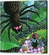 Spider Picnic Acrylic Print by Martin Davey