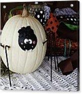 Spider Pumpkin Acrylic Print