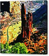 Spider Rock Canyon Dechelly  Acrylic Print