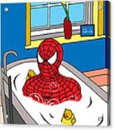 Spiderman  Acrylic Print by Mark Ashkenazi