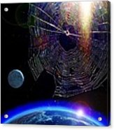 Spiders In Space - The Beginning Of The End Acrylic Print
