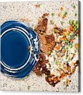 Spilled Plate Of Food On Carpet Acrylic Print