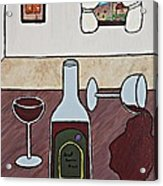 Essence Of Home - Spilt Glass Of Wine Acrylic Print