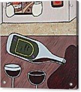 Essence Of Home - Spilt Wine Bottle Acrylic Print
