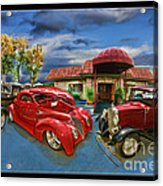 Spin A Yarn Car Show Acrylic Print