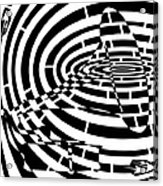 Spin Art Phonographic Maze  Acrylic Print