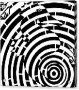 Spin Art Seahorse Maze  Acrylic Print