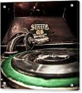 Spin That Record Acrylic Print by Darcy Michaelchuk