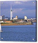 Spinnaker Tower And Gunwharf Quays Acrylic Print