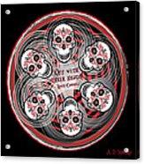 Spinning Celtic Skulls Acrylic Print