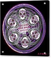 Spinning Celtic Skulls In Purple Acrylic Print