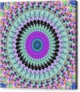 Spinning Colors Mandala Acrylic Print