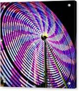 Spinning Disk Acrylic Print by Joan Carroll