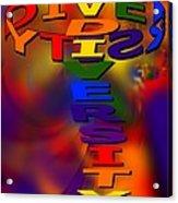 Spinning Diversity Acrylic Print