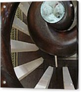 Spiral Railing And Puppy Acrylic Print