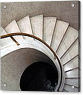 Spiral Stair - Denys Lasdun Acrylic Print by Peter Cassidy