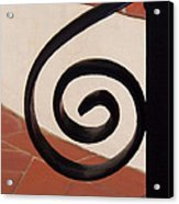 Spiral Stair Railing Acrylic Print