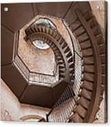 Spiral Staircase In Lamberti Tower Acrylic Print