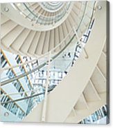 Spiral Staircase Inside Office Complex Acrylic Print