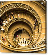 Spiral Staircase Acrylic Print by Stefano Senise