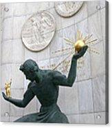 Spirit Of Detroit Monument Acrylic Print