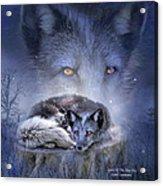 Spirit Of The Blue Fox Acrylic Print