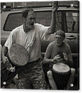Charlottesville Bongo Player Acrylic Print
