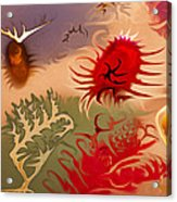 Spirits And Roses Acrylic Print by Omaste Witkowski